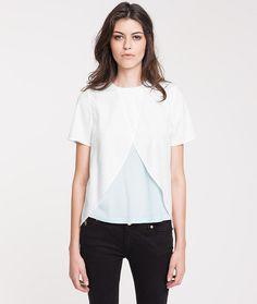 Materialmix-Blusenshirt
