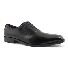 Cut an elegant silhouette with these black formal oxford shoes. There is a small amount of brogue detail and the feel is simple yet stylish. Black Oxfords, Brogues, Black Shoes, Men's Shoes, Dress Shoes, Purple Leather, Oxford Shoes, Lace Up, Pairs