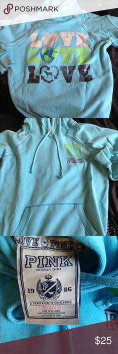 PINK VS hoodie/ sweatshirt. Size medium. Good condition. PINK Victoria's Secret Tops Sweatshirts & Hoodies