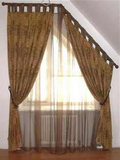 Hanging Curtains Around Oddly Shaped Windows House Of