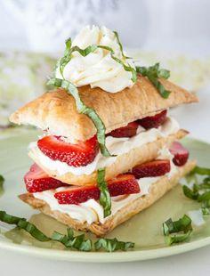 #Strawberry #Basil #Napoleons 15 Strawberry #Food & #Drink #Ideas   All Yummy #Recipes