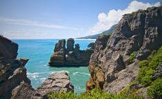 "The famous ""Pancake Rocks"" at Paparoa National Park"