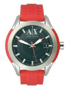 Armani Exchange Three-Hand Silicone - Red Men's watch #AX1227