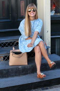 rockpaperdresses, cathrine nissen, ganni kimono, decadent bag, mrani sandals