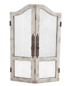 This Vintage Two-Door Wall Mirror is perfect! #zulilyfinds