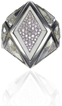 A Diamond & Rock Crystal Cuff by Suzanne Belperron