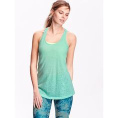 Old Navy Womens Burnout Tanks ($7) ❤ liked on Polyvore featuring tops, trade winds neon poly, white singlet, neon racerback tank, racer back tank, neon tank and white tank top