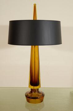 Fulvio Bianconi; Glass Table Lamp, 1950s.