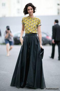 floor-length skirt