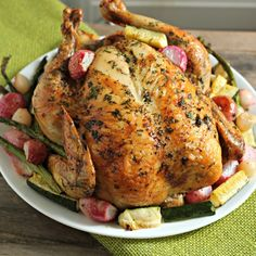 Roasted Shabbat Chicken with Spring Vegetables
