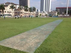 Merdeka Square KL Possibly one of the few remaining memories of the British, yes it's a cricket pitch.