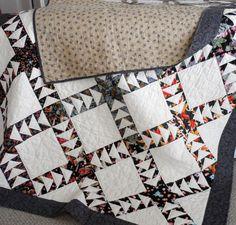 Oriental Flying Geese Quilt Handmade