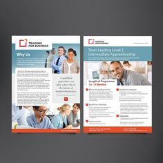 Flyer to be designed for Training Company - More design work a distinct possibilty by vikjain