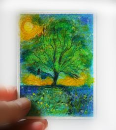 #Aceo original #Firefly summer night ACEO original signed by dahliahousestudios $8