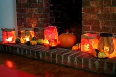 Moment to Moment: Paper bag Halloween lanterns