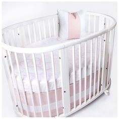 Infant Oilo Woven Band Crib Skirt For Stokke Sleepi Crib (€100) ❤ liked on Polyvore featuring home, children's room, children's bedding and baby bedding