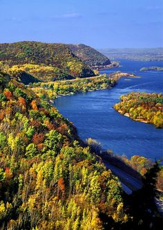Mississippi River bluff country near Red Wing, Minnesota. - check out a visit to Memorial Park.