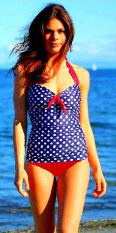 Ruched Tankini in prints with Boy Cut bottoms in solid colors on Etsy, 800,00kr