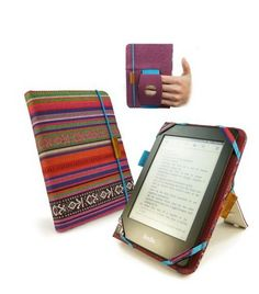 Tuff Luv Embrace Plus Material Case Cover for Kindle Touch/Paperwhite (Sleep Function) / Sony Kobo Touch - Navajo Electronics Components, Electronics Gadgets, Capas Kindle, Kobo Ereader, How To Clean Furniture, Craft Bags, Gadget Gifts, Amazon Kindle, Navajo