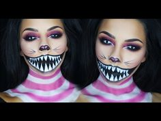 Cheshire Cat Halloween Makeup Tutorial | TinaKpromua - YouTube