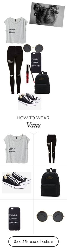 """Unbenannt #34"" by madi-tha on Polyvore featuring Topshop, Converse and Vans"