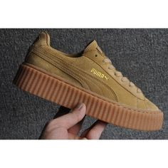 Puma Rihanna X Suede Creepers Casual Shoes Tan 361005-03 | creepers
