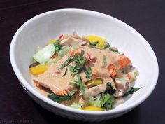 I first had Panang Curry Salmon in a tiny Thai restaurant on the outskirts of Chinatown in WaDC. It immediately became one of my favorite dishes.Quick, full of flavor and even on the healthy side! Mae Ploy is my favorite brand for curry pastes and coconut milk. It isreadily found in larger Asian markets. The...