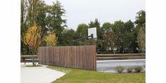 Christian LARROQUE Architectes ASSOCIES  Parc Jehan Buhan - Gradignan Architecture  Equipements sportifs - Basketball Playground Design, Outdoor Furniture, Outdoor Decor, Outdoor Storage, Architecture, Deck, Photos, Outdoors, Sports