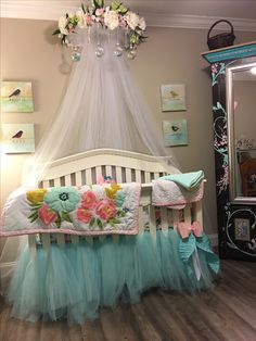 Baby Girl Crib Cornice