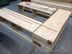 Ana White   Build a Brandy Scrap Wood Storage Bed with Drawers   Free and Easy DIY Project and Furniture Plans