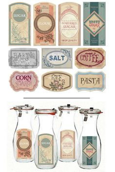 Vintage Farmhouse Pantry Labels from Free the Diva