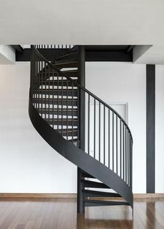 Interior added a new photo. Spiral Staircase Plan, Interior Staircase, Staircase Railings, Stairways, Spiral Staircases, Hygge, Village House Design, House Stairs, Interior Photography