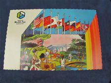 Expo 74 Worlds Fair Postcard Spokane Flag Pavilion WA