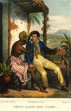 """Plaçage was a recognized extralegal system in which white French and Spanish and later Creole men entered into the equivalent of common-law marriages with women of African, Indian and white (European) Creole descent"" -wikipedia Southern Folk Artist & Antiques Dealer/Collector: Julien Hudson New Orleans Antebellum free man of color artist"