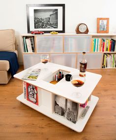We would like to introduce a new concept: The BrickBox coffee table. Storage Furniture, Modern Shelving, Furniture, Modular Storage, Toddler Bed, Kids Corner, Modern Storage Furniture, Home Decor, Coffee Table