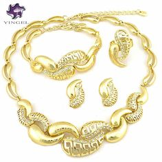 african jewelry sets  wedding jewelry sets  african gold colour high quality beads jewelry sets free shipping