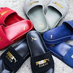 . NOW ON SALE PUMA LEADCAT SUEDE 365758-01 365758-02 365758-03 365758-04 ¥3,900+TAX . #atmostokyo#atmos#puma#leadcat#アトモス#プーマスニーカー Pool Slides, Tokyo, Footwear, Sandals, Shoes, Shoes Sandals, Zapatos, Shoe, Shoes Outlet