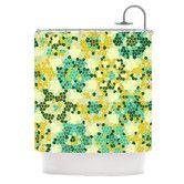 Found it at Wayfair - Flower Garden Mosaic Shower Curtain