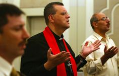 There is a $56 million ISIS bounty promised to the one who kills him. His name is Canon Andrew White; he is the vicar of the only Anglican Church in Iraq.