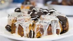 Have a sweet start to your day with cookies and cream cinnamon rolls