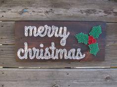 Custom Merry Christmas String Art Sign
