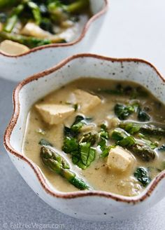Thai Green Curry with Vegetables and Tofu. I am on the BIGGEST curry kick lately. I want this now.