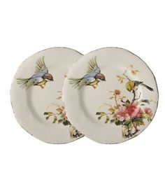 Southern Living Bird with Peony Salad Plates, Set of 2 Ceramica Artistica Ideas, Blue And White Dinnerware, Stylish Kitchen, Vintage Plates, Home Decor Accessories, Clothing Accessories, China Patterns, Dinnerware Sets, Southern Living