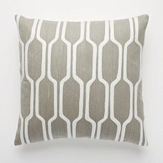 Honeycomb Crewel Pillow Cover Platinum for Cameron's room. Honeycomb will match nicely with the orange area rug.