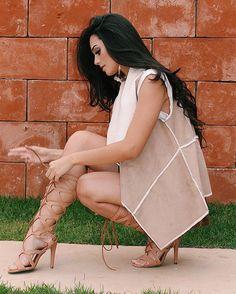 Gente olha que linda essa gladiadora @lialinecalcados . Super confortável e do jeitinho que eu gosto. ❤ ! {Sigam o instagram @lialinecalcados e fiquem por dentro de todos os lançamentos da marca.}
