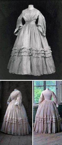 Day dress ca. 1860. Linen. Centraal Museum, Utrecht