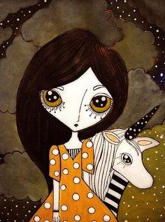 Karen Steph「Zelda & the unicorn」