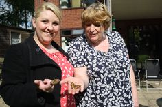 Home-grown Butterfly release to nature at Lancashire Care Home for Dying Matters Awareness Week