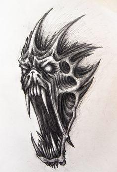 Demon by on DeviantArt Demon by on DeviantArt Bull Skull Tattoos, Evil Skull Tattoo, Demon Tattoo, Body Art Tattoos, Samurai Tattoo, Satanic Tattoos, Scary Tattoos, Badass Tattoos, Cool Tattoo Drawings
