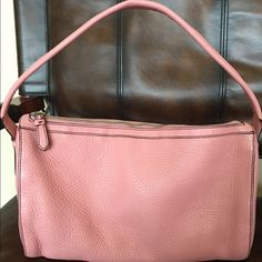 """❗️ Sale❗️Leather Cole haan satchel This pretty rose colored bag is all leather and vinyl inside.  Easy to keep clean. No wear on this bag excellent shape. Measures 13"""" by 9"""" by 7"""" wide. There is a small mark on outside can barely see. Only used a few times. Cole Haan Bags Satchels"""